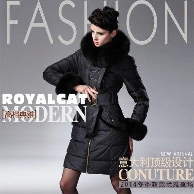 2016 Winter Down Jacket Brand Women down Parka women duck down jackets X-long Large Fox Fur Mink  fur Hooded Women down coat 98