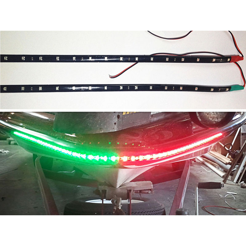 "2x Boat Navigation LED Lighting RED /& GREEN 12/"" Waterproof Marine LED Strips"