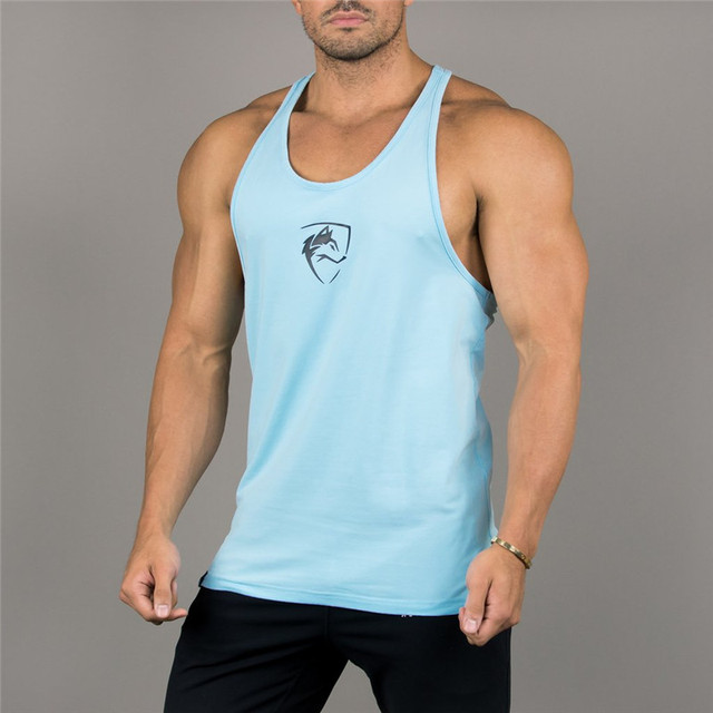27cb6529 New Mens Sleeveless Tank Tops Summer Print wolf Cotton Male Tank Tops gyms  Clothing Bodybuilding Undershirt