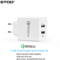 BTOD Dual USB Porta Carregador 30 W Carga Rápida 3.0 2.4A Para IPhone IPad QC3.0 Porta Para Samsung S6 Nota 4 Borda Nexus 6 Parede adaptador