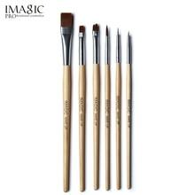 hot deal buy imagic 6pcs/set body paint makeup brushes painting face paint brush set maquiagem tools wooden handle cosmetics body painting