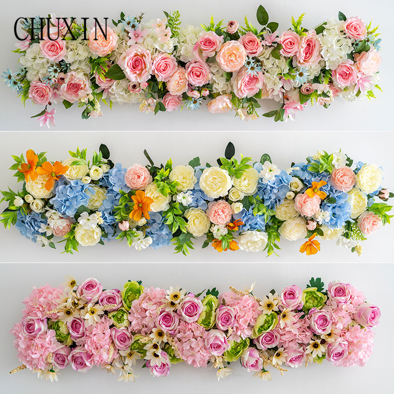 1M wedding props decoration Artificial flower rose flower row home holiday celebration wedding arch decoration fake