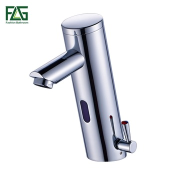 FLG New Hot Cold Mixer Automatic Hand Touch Tap Hot Cold Mixer Battery Power Free Sensor Faucet Bathroom Sink Basin Faucets 8902 1