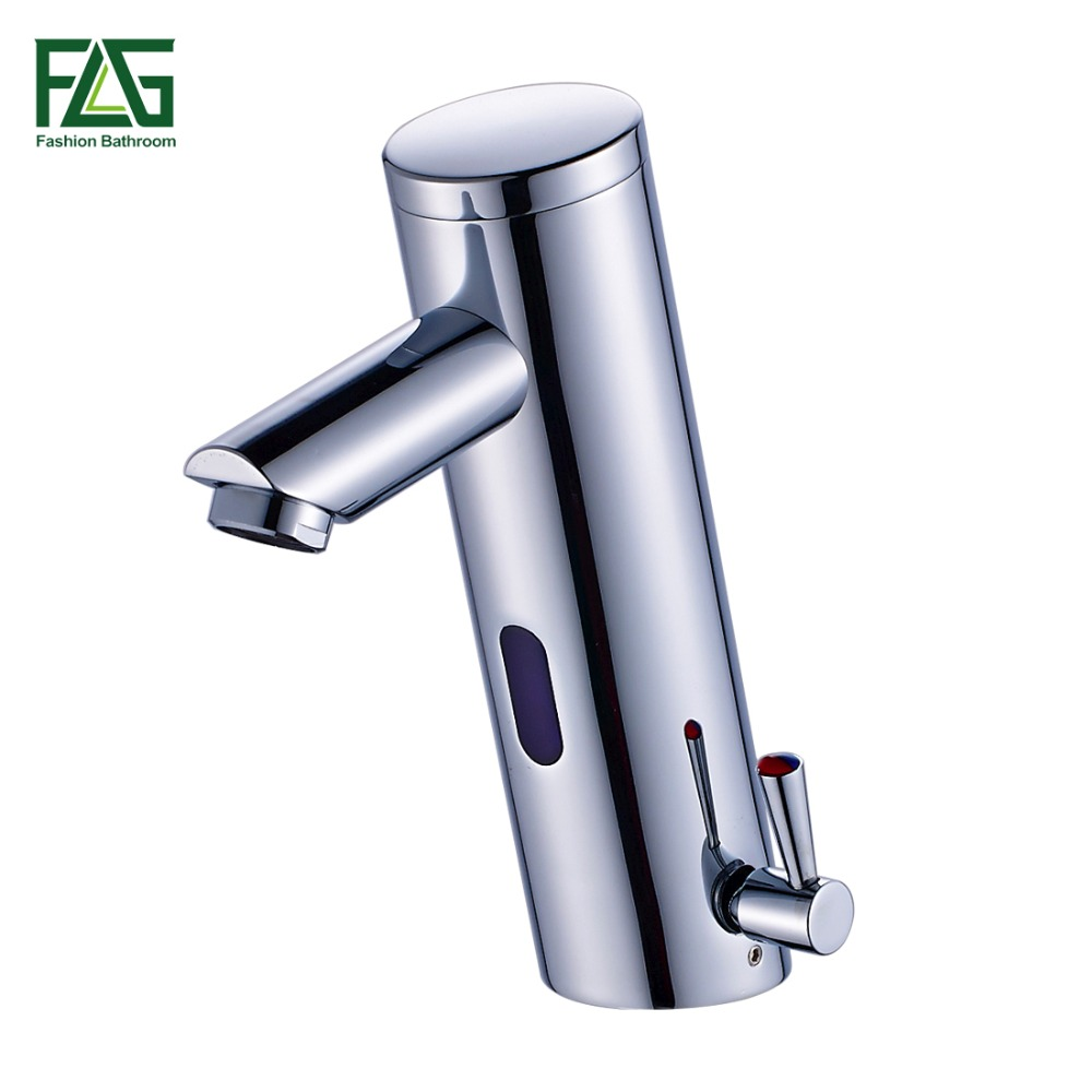 Flg nova quente e fria misturador da mão automática toque quente e fria misturador bateria livre de energia sensor torneira pia do banheiro bacia torneiras 8902