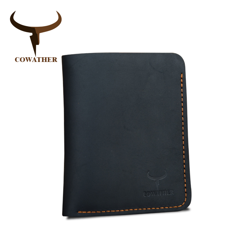 c8c97dde8003 US $10.04 43% OFF COWATHER Crazy horse leather men wallets Vintage genuine  leather wallet for men cowboy top leather thin to put free shipping-in ...