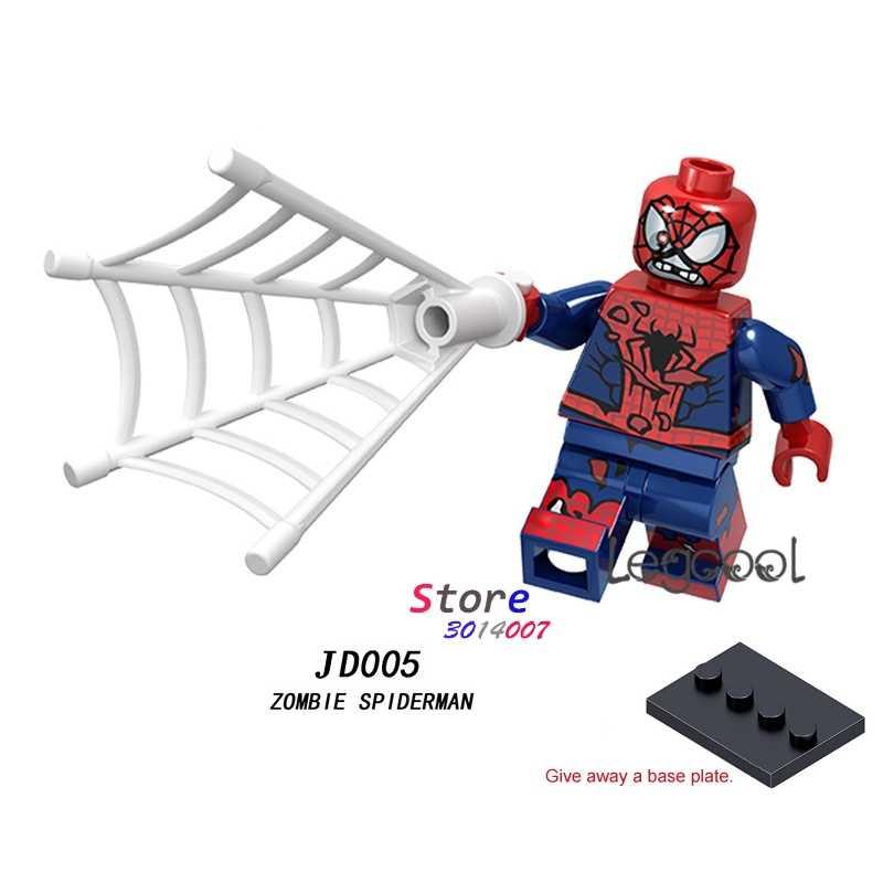 1PCS modelo blocos de construção super-heróis de ação Zumbi spiderman Natal passatempo menina diy brinquedos para presente de crianças