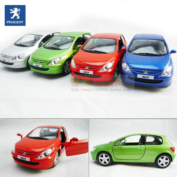 The mark 307 4 soft world WARRIOR alloy car model toy