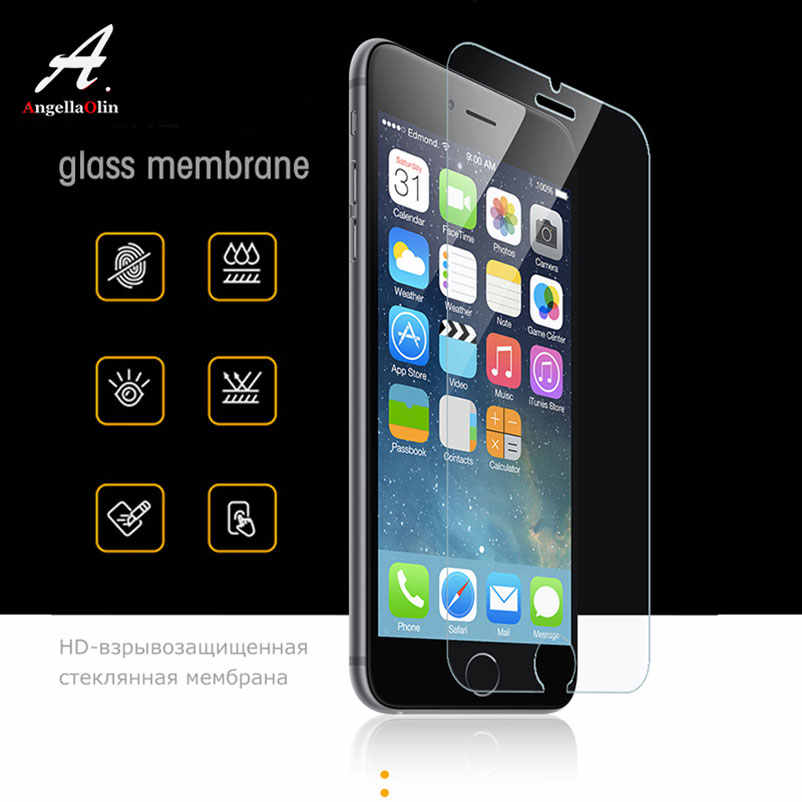 "9H tempered glass screen protector For iphone 11 Pro Xs Max XR 10 8 X 4 4s 5 5s 5c SE 6 6s plus 7 6.1"" 6.5"" film case"