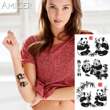 1 piece Fantasy Color Chinese painting panda Hot Large animal Temporary Tattoo Waterproof Tattoo Sticker for women men