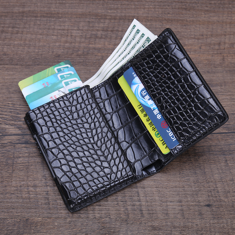 PU Leather Credit Card Holder Men Women RFID Metal Card Holder (5)