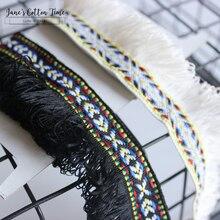 6 ярдов/партия полосатая кисточка тесьма 3 см Широкий этнический стиль лента вышивка стиль инструмент для отделки для швейное изделие для сумки домашний деко 2style