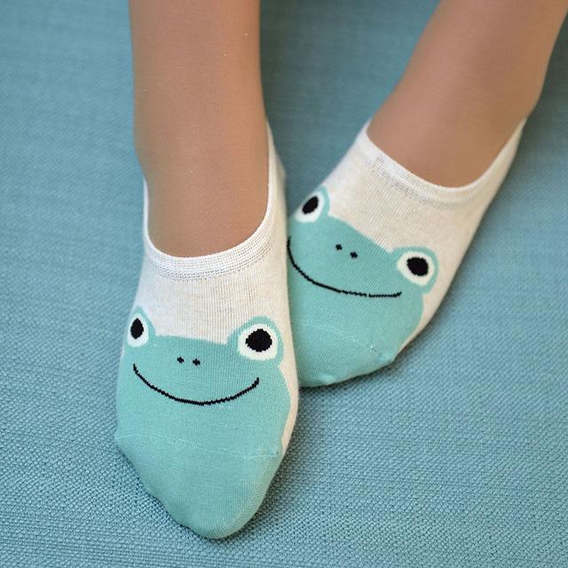 5 Pairs Animal Print Boat Socks