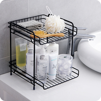 Double wrought iron racks Kitchen Spice racks Condiment Storage racks Bathroom countertops