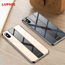 Glossy Gold Plated case Shockproof Mobile Phone for iPhone 6 6s 7 8 Plus XS X XR MAX Ultra Thin Acrylic back Protective