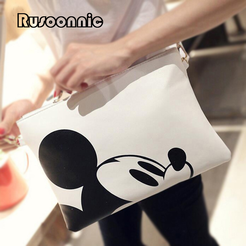 Fashion Women Messenger Bags Mickey Clutch Bag Minnie Women Leather Handbag Bolsa Feminina Bolsas mochila carteira sac a main