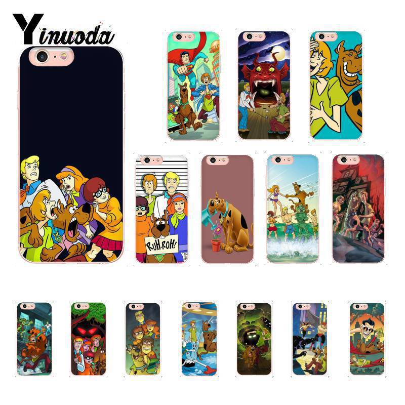 Yinuoda Shaggy and Scooby Doo Cover Soft Shell Phone Case for iPhone X XS MAX 6 6s 7 7plus 8 8Plus 5 5S SE XR 10 in Half wrapped Cases from Cellphones Telecommunications