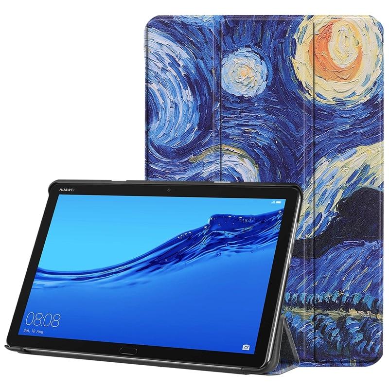 Book Flip Ultra Slim Painted PU Leather Case For Huawei Mediapad M5 Lite BAH2-L09 BAH2-W19 10.0