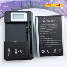 цена на New 2900mAh C11P1428 Battery For Asus Zenfone 2 Zenfone2 Laser ZE500KG ZE500KL Cell Phone Batteries With LCD Wall Charger
