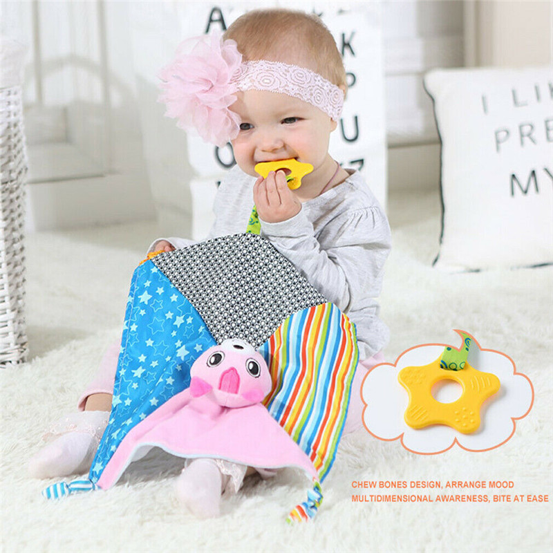 2019 Cute Baby Boy Girl Comfort Towel Soft Stuffed Animal Plush Security Blanket Soothing Animal Plush Toy Appease Stuffed Toy