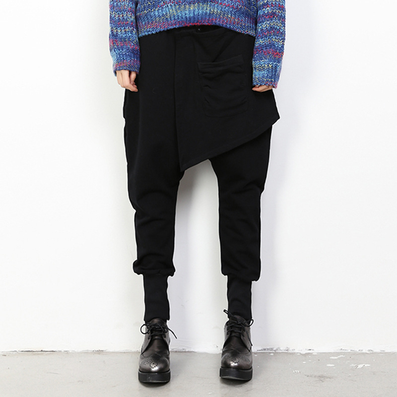 2016 Autumn and Winter Sweater Fashion Harem Pants Pants Fake Two Women In Europe and America