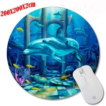 Top Quality Funny Dolphins SeaWorld  Round Pad To Mouse Notbook Computer Mousepad Gaming Padmouse Laptop Gamer Play Mat 200*200