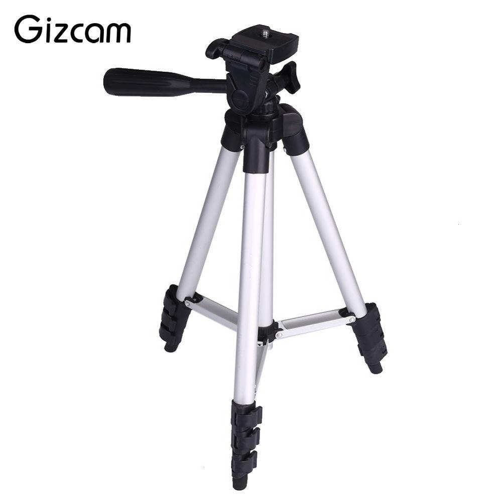 Gizcam Flexible Foldable 3 Sections Adjustable Extendable Aluminum Tripod Mount Stand Phone font b Digital b