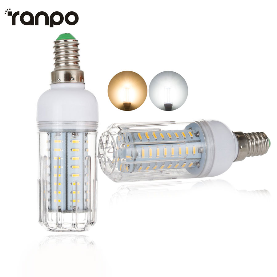 E14 Dimmable LED Corn Light AC 220V 45 64 80 126Leds 12W 18W 21W 25W High Luminous Flux 4014 SMD No Flicker Lamps Chandelier