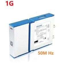 Двухканальный Виртуальный осциллограф USB осциллограф для ПК OSC2002 1 г выборка 50 м пропускная способность, чем 1008C 6022BE