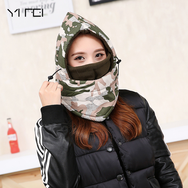 YIFEI 2017 Breathable Balaclava Hunting Ski Cycling Motorcycle Full Face Mask Men's winter hat Keep warm  hats for Women outdoor