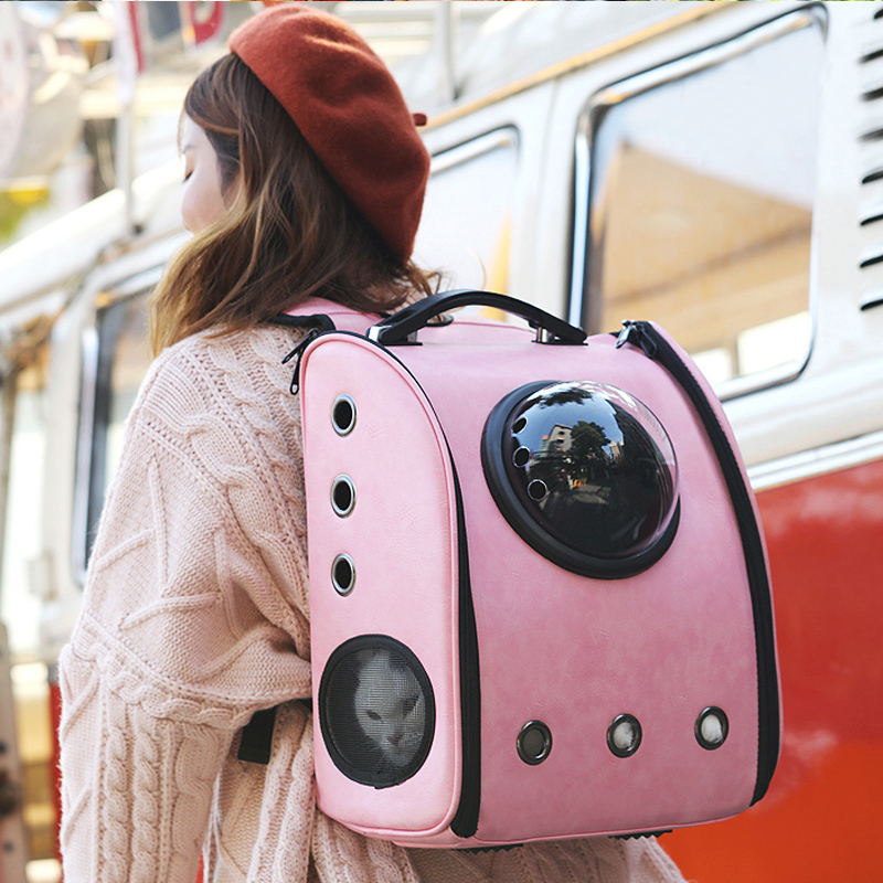 The Capsule Bag Carrying Pet Pet  Packaging Bag Dasyure Pet Dog Pet Travel Dog Carrier Cat Breathable Backpack Outdoor Portable