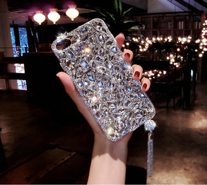 Image 4 - Bling Jewelled Rhinestone Crystal Diamond Soft Back Pendant Phone Case Cover For iPhone 12 11 Pro MAX X 6s 7 8 Plus 5 XR Xs Max