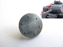 Mato  turret metal armoured fan cover for  1/16 1:16 RC Panzer III, IIIH,Panzer IV F1, Panzer IV-F2 tank, metal upgraded parts