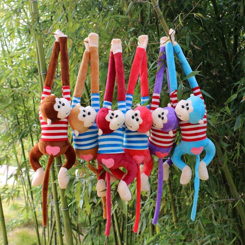 60-90 см Φ большая обезьянка, плюшевая мягкая игрушка, животное, длинная рука, хвост, кукла, подарок, обнимающий, милая подвеска, хорошее качест...
