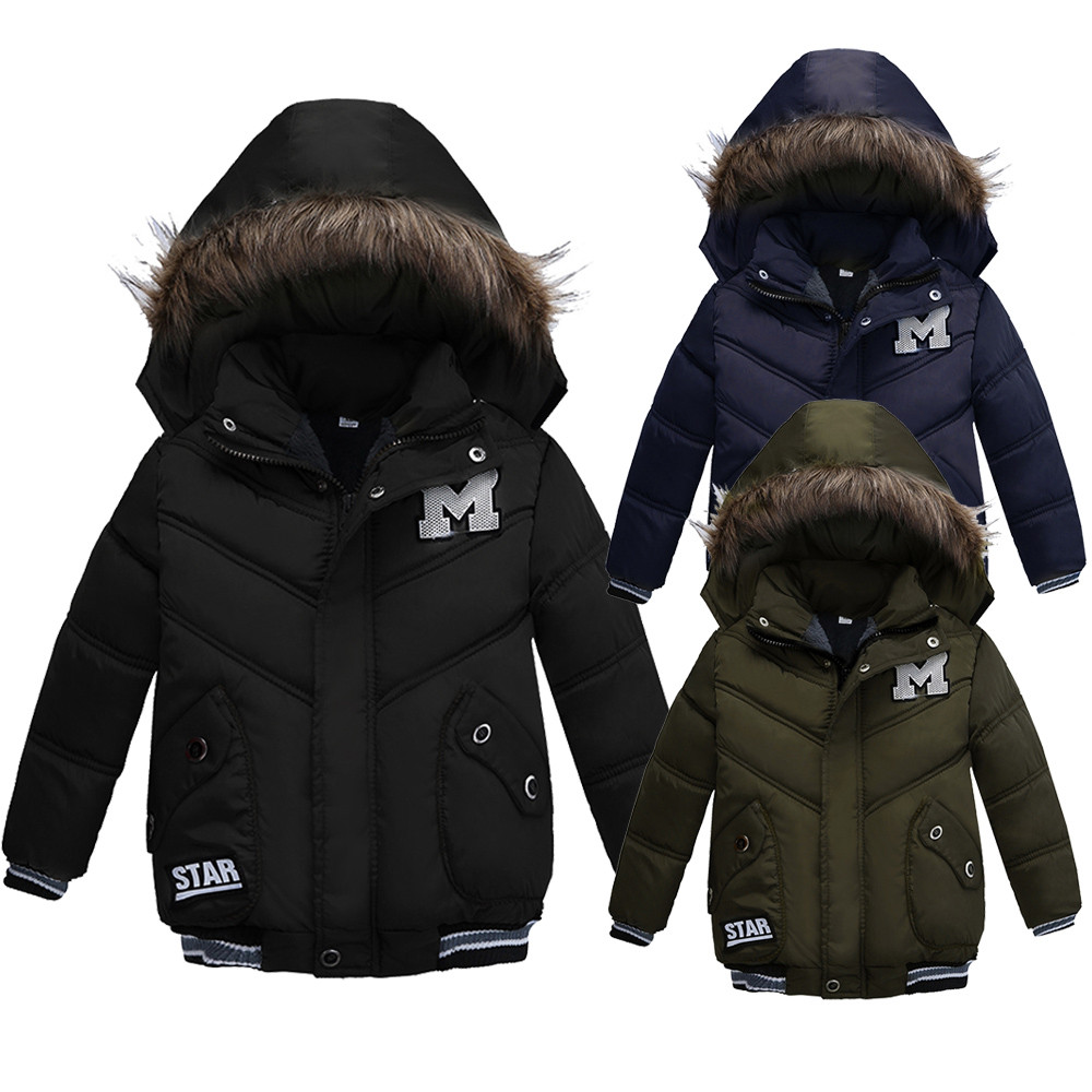 2018 New Baby Winter Coat Kids Warm Winter Outerwear Hooded fashion Children Down Jackets Boys Girls Cotton Coat