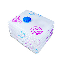 YINUO 2018 8PCS/SET Hand Pump Cotton Quilt Clothing Vacuum Compressed Bags Travel Storage Space Saving Clothing Seal Bags