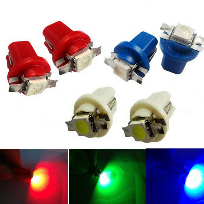 2pcs set Car T5 B8 5D Gauge 5050 1SMD LED Dashboard Dash Side Light Bulb Lamp