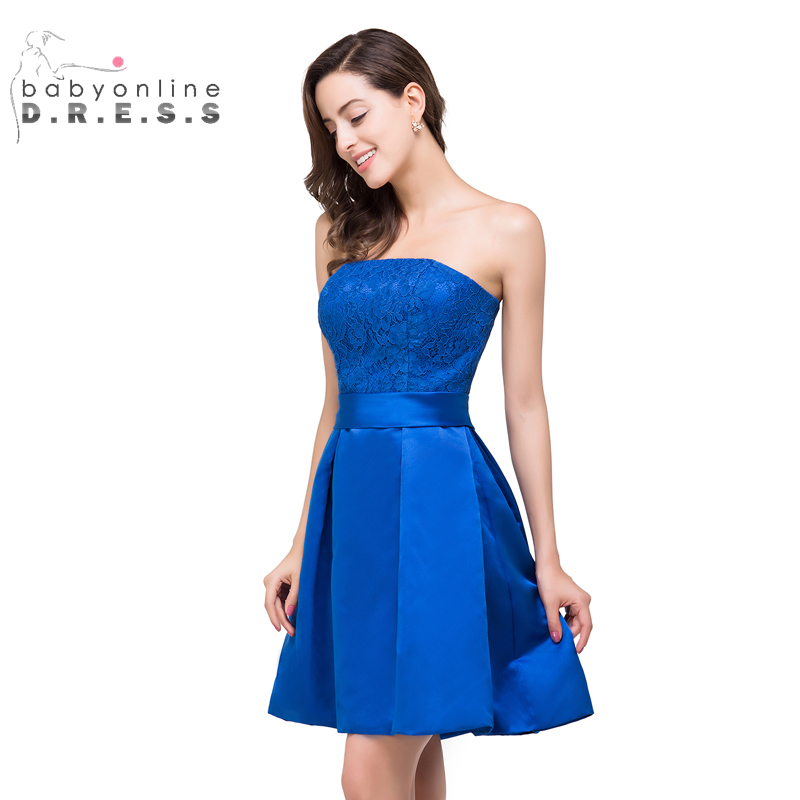 D g blue and white dress homecoming