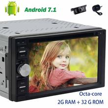 """7"""" Car dvd Player 2 Din car PC 8-core Car radio Stereo Android 7.1 GPS Navigation Head Unit wifi 4G FM AM+Front&Reverse camera"""