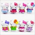 """8 Unids Clásico Encantador Edición Limitada Hello Kitty Toy Figura Colección 3"""""""