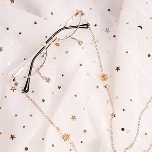 Image 1 - Ins Half Doos Versierd Frames Zonder Lenzen Ster Hanger Met Ketting Concave Mannen En Vrouwen Modellering Lolita Bril