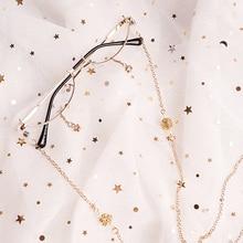 Ins cadres décoratifs, demi boîte, sans lentille, pendentif étoile, chaîne concave, verres lolita, pour hommes et femmes