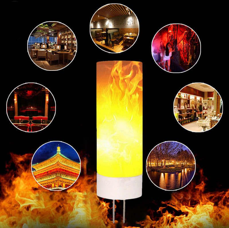 2018 G9/G4 Flame Effect Fire Light Bulbs Creative Lights Flickering Emulation Vintage Atmosphere Decorative Lamp Holiday DIY #DQ