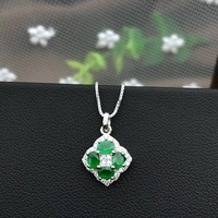 SHILOVEM 925 sterling silver Natural Emerald pendant classic fine Jewelry Customizable women wedding send Necklace yh030401ml