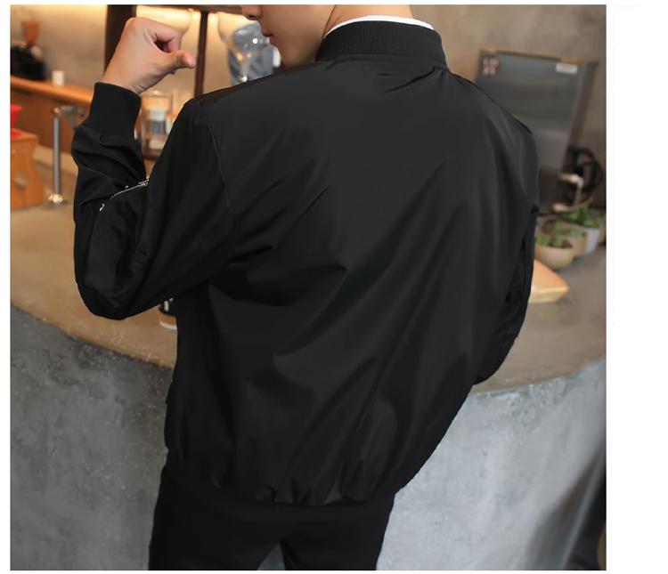Topdudes.com - Hip Hop Patch Slim Fit Pilot Jacket Coat Outerwear