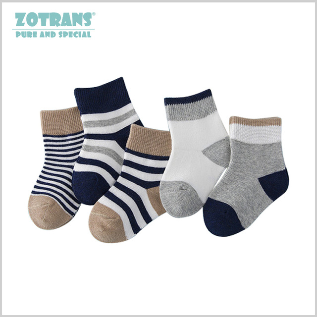 5 Pair/lot Baby Boy Stripes Socks 5 Kinds Style Soft Cotton Infant Socks Cute Cartoon Pattern Kids Socks For Baby Boy Blue Black