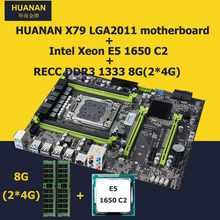 HUANAN X79 motherboard CPU RAM combos Xeon E5 1650 C2 CPU (2*4G)8G DDR3 RECC memorry version 2.49 X79 mainboard 2 years warranty