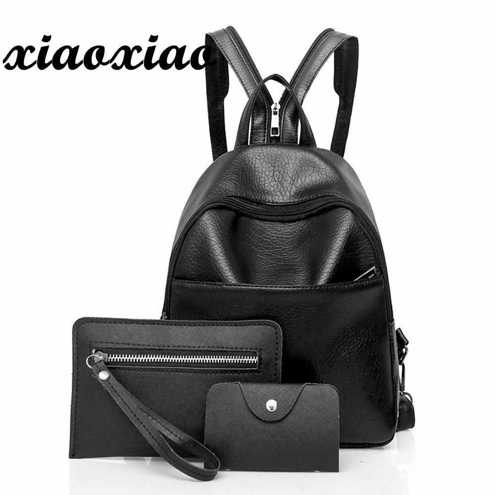 1349e8a12571 компл. рюкзак женский, черный рюкзак из искусственной кожи Портфели школьные