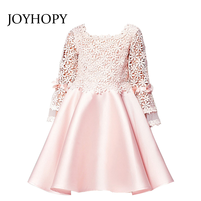 Quality Children Girl Dress Bridesmaid  Party Wedding Birthday Princess Toddler Baby Dresses Princess Lace Kids Girl Clothes  2016 fashion kids wedding dresses for girls birthday party princess dress 2 7t children bridesmaid toddler elegant pageanttq8054