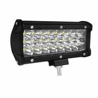 CROSSFOX 1Pcs 7 Inch 12V 24V 72W 6000K LED Work Light Bar For Boats Tractor Offroad