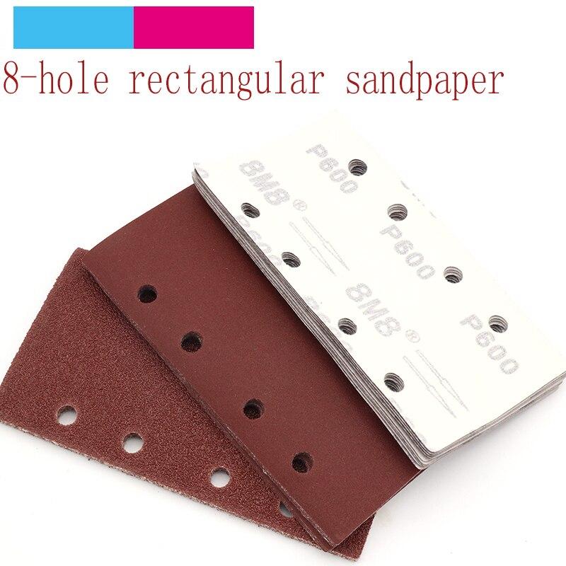 10pcs 95x180mm Square Self-adhesive Sandpaper Sander Grit 40-800 Sand Paper Sanding Disc Abrasive Tools For Polishing Wood